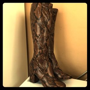 Aldo boot brand new worn once brown snake skin